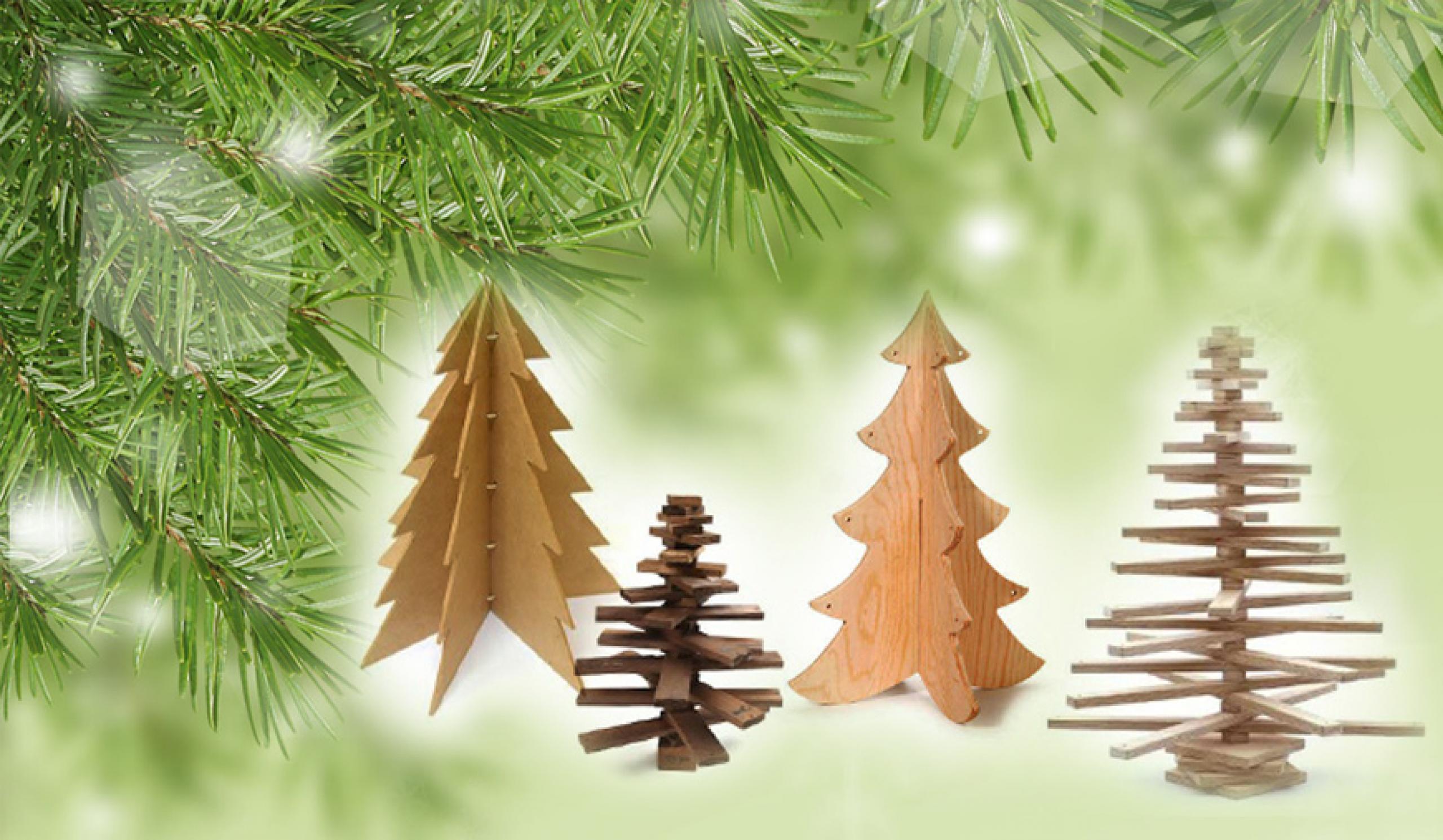 Bygg en julgran av trä