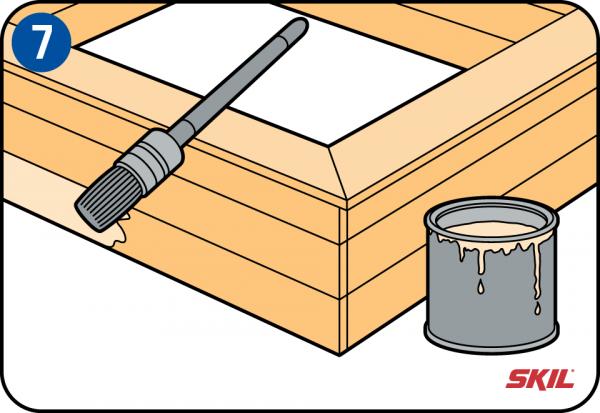 bygga sandlåda
