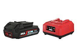 """SKIL 3110 AA Batteri (""""20V Max"""" (18V) 2,5Ah """"Keep Cool"""" litiumjon) och laddare"""