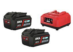 """SKIL 3112 BA Batterier (""""20V Max"""" (18 V) 4,0 Ah Keep Cool™ lithiumjon) och laddare"""