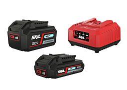 """SKIL Batterier (""""20V Max"""" (18V) 2,0 och 4,0Ah """"Keep Cool™"""" litium-jon) och laddare"""