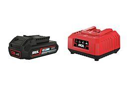 """SKIL Batteri (""""20V Max"""" (18V) 2,0Ah """"Keep Cool™"""" litiumjon) och laddare"""