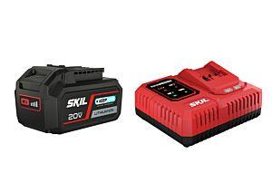 """SKIL 3111 AA Batteri (""""20V Max"""" (18V) 4,0Ah """"Keep Cool"""" litiumjon) och laddare"""
